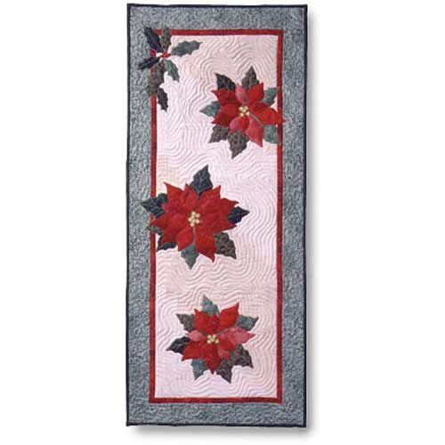 Poinsettia & Holly Table Runner